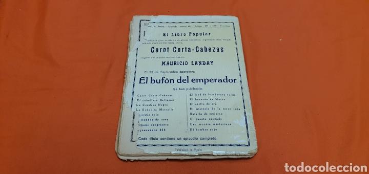Libros antiguos: El hijo del cardenal, Mauricio landay, libro popular. Carot corta-cabezas. Ed. Bauzá -Barcelona 1927 - Foto 7 - 208073267