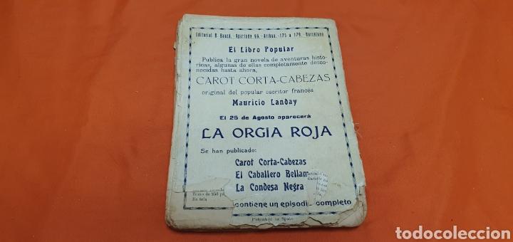 Libros antiguos: La señorita metralla, Mauricio landay, libro popular. Carot corta-cabezas. Ed. Bauzá -Barcelona 1926 - Foto 7 - 208077182