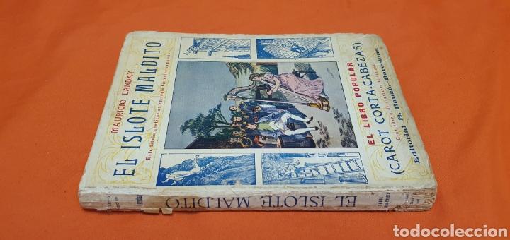 Libros antiguos: El islote maldito, Mauricio landay, libro popular. Carot corta-cabezas. Ed. Bauzá -Barcelona 1928 - Foto 2 - 208078175