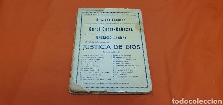 Libros antiguos: El islote maldito, Mauricio landay, libro popular. Carot corta-cabezas. Ed. Bauzá -Barcelona 1928 - Foto 6 - 208078175