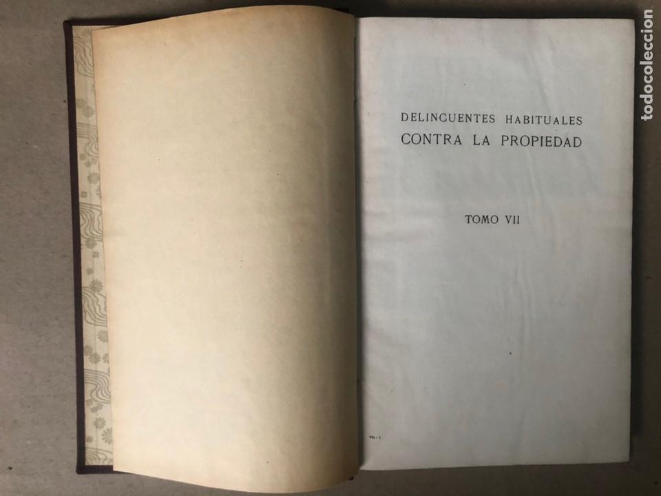 Libros antiguos: DELINCUENTES HABITUALES CONTRA LA PROPIEDAD POR J CABELLUD. TOMO VII. AÑO 1908. - Foto 3 - 208082076