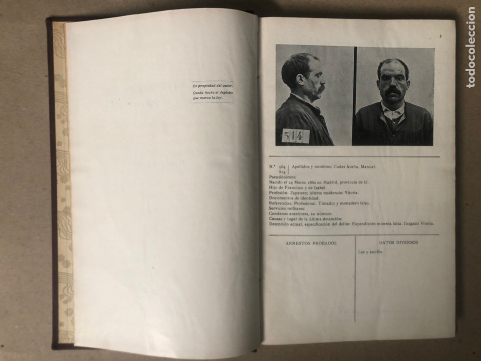 Libros antiguos: DELINCUENTES HABITUALES CONTRA LA PROPIEDAD POR J CABELLUD. TOMO VII. AÑO 1908. - Foto 4 - 208082076
