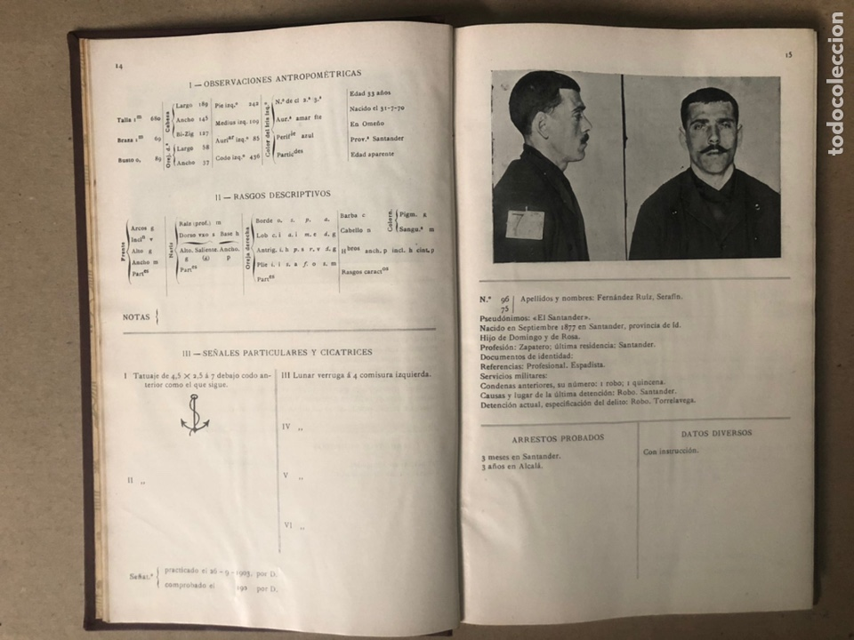 Libros antiguos: DELINCUENTES HABITUALES CONTRA LA PROPIEDAD POR J CABELLUD. TOMO VII. AÑO 1908. - Foto 5 - 208082076