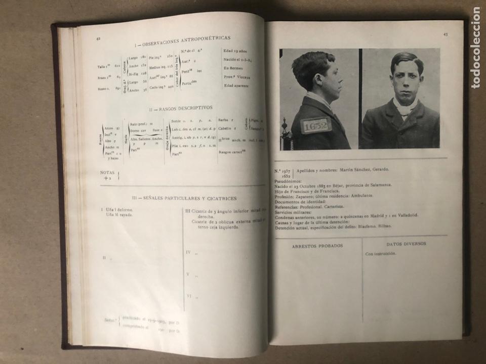 Libros antiguos: DELINCUENTES HABITUALES CONTRA LA PROPIEDAD POR J CABELLUD. TOMO VII. AÑO 1908. - Foto 6 - 208082076