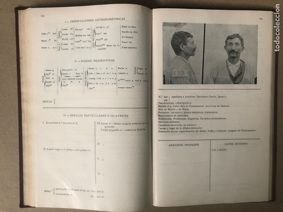 Libros antiguos: DELINCUENTES HABITUALES CONTRA LA PROPIEDAD POR J CABELLUD. TOMO VII. AÑO 1908. - Foto 10 - 208082076