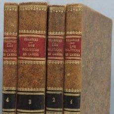 Libros antiguos: 1845.- LOS POLITICOS EN CAMISA. HISTORIA DE UNAS HISTORIETAS. J.M.V Y UN JESUITA. 4 TOMOS. Lote 208169228