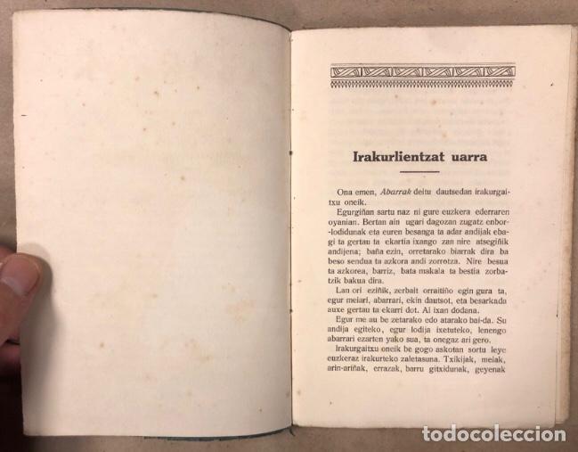 Libros antiguos: ABARRAK. BUSTINTZA'TAR EBAIDTA (KIRIKIÑO'K). GRIJELMO'REN ALARGUN-SEMIEN IRARKOLEAN 1918. EUSKARAZ. - Foto 3 - 208193327