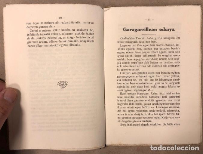 Libros antiguos: ABARRAK. BUSTINTZA'TAR EBAIDTA (KIRIKIÑO'K). GRIJELMO'REN ALARGUN-SEMIEN IRARKOLEAN 1918. EUSKARAZ. - Foto 5 - 208193327