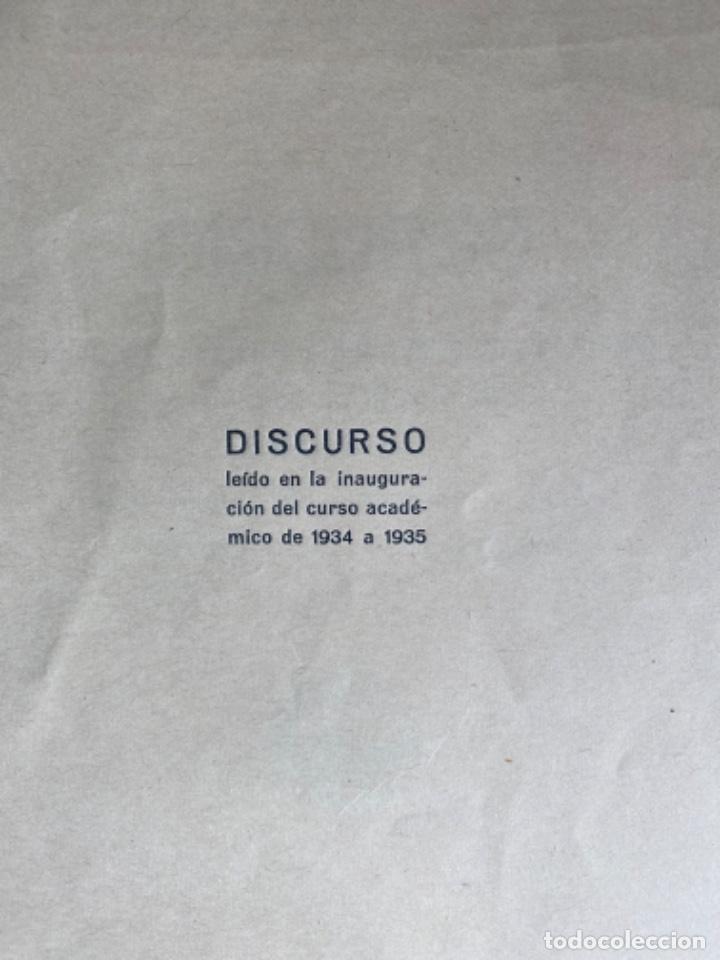 Libros antiguos: Miguel de Unamuno y Jugo. ORACIÓN INAUGURAL del Curso de 1934 a 1935 en la Universidad de Salamanca - Foto 3 - 208226803