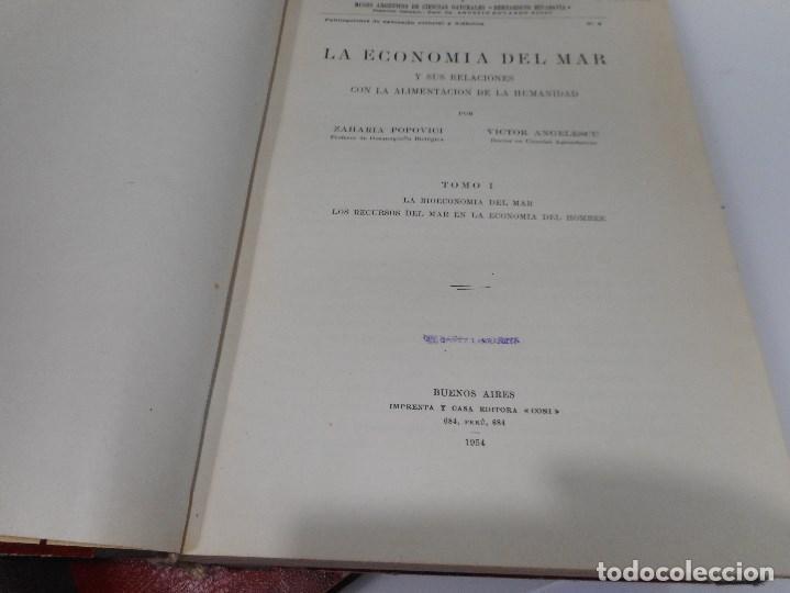 Libros antiguos: La economía del mar y sus relaciones con la alimentación de la humanidad ( 2 Tomos) Q1126WAM - Foto 2 - 208238153