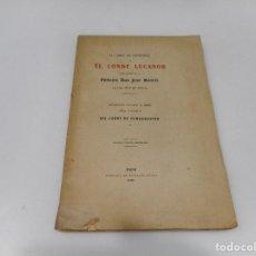 Libros antiguos: PRINCIPE DON JUAN MANUEL EL CONDE LUCANOR Q1146WAM. Lote 208240608