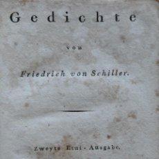 Libros antiguos: GEDICHTE VON SCHILLER. AÑO 1812. 1 GRABADO. Lote 208252916