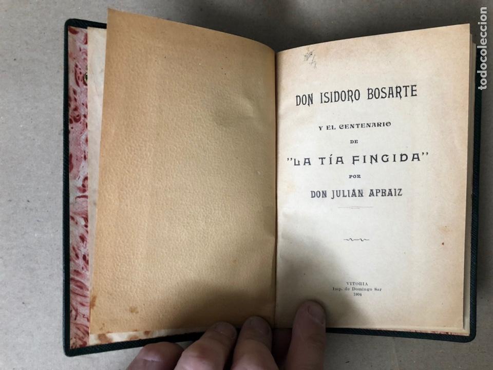 Libros antiguos: DON ISIDORO BOSARTE Y EL CENTENARIO DE LA TÍA FINGIDA, POR JULIÁN APRAIZ. IMPR. DE DOMINGO SER, 1904 - Foto 4 - 208255053
