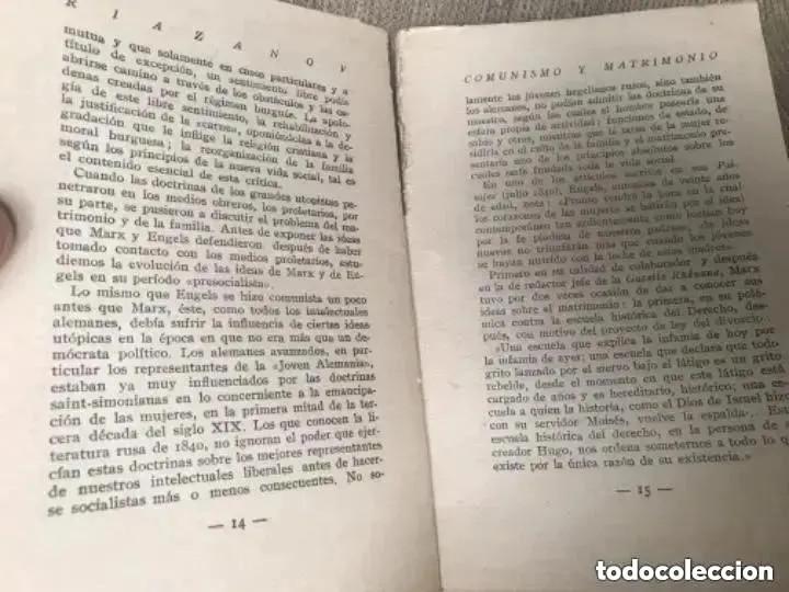 Libros antiguos: ANTIGUO Y RARO LIBRO COMUNISMO Y MATRIMONIO RIAZANOV TEIVOS PRIMERA EDICIÓN 1930 - Foto 5 - 208349990