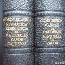 Libri antichi: INSTALACIONES DE VAPOR. MAQUINAS DE VAPOR. BIBLIOTECA DE LAS ESCUELAS INTERNACIONALES. Nº 38 Y 39. Lote 208396995