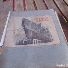 Libros antiguos: LIBRO CARPETA CON SU TOTALIDAD EN HOJAS DESPLEGABLES MARCADA DATOS CONTRUCCION DE BUQUES BARCOS. Lote 208400575