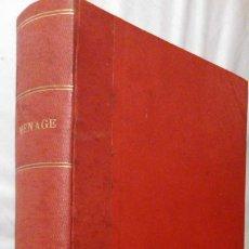 Libros antiguos: LIBRO MENAGE.- REVISTAS DE JULIO A DICIEMBRE DE 1934. Lote 208416523