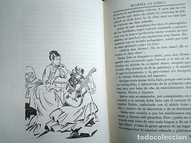 Libros antiguos: Obras Escogidas de Juan Valera: Juanita la Larga, Pasarse de Listo, Genio y Figura. 1925 - Foto 9 - 208422935