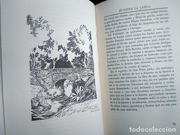 Libros antiguos: Obras Escogidas de Juan Valera: Juanita la Larga, Pasarse de Listo, Genio y Figura. 1925 - Foto 12 - 208422935