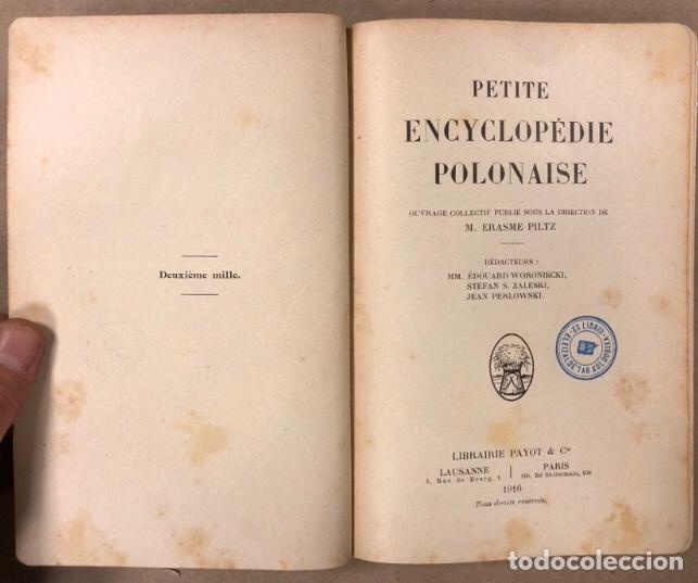 Libros antiguos: PETITE ENCYCLOPÉDIE POLONAISE. M. ERASME PILTZ. LIBRAIRIE PAYOT & Cie 1916. - Foto 3 - 208597050