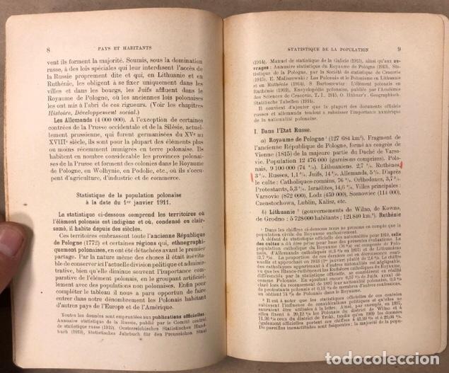 Libros antiguos: PETITE ENCYCLOPÉDIE POLONAISE. M. ERASME PILTZ. LIBRAIRIE PAYOT & Cie 1916. - Foto 4 - 208597050