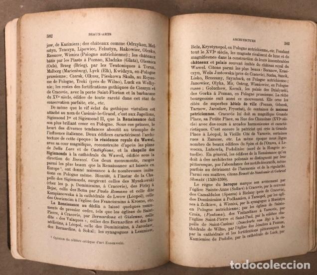 Libros antiguos: PETITE ENCYCLOPÉDIE POLONAISE. M. ERASME PILTZ. LIBRAIRIE PAYOT & Cie 1916. - Foto 8 - 208597050