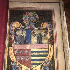 Libros antiguos: EJECUTORIA MATÍAS VÉLEZ. CHANCILLERÍA REAL DE GRANADA 1705. LUCENA. BELLA ENCUADERNACIÓN, ESCUDO.... Lote 208656358