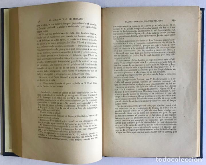 Libros antiguos: EL ALMIRANTE C. DE PERSANO. Campaña naval de los años 1860 y 1861. Diario privado político-militar. - Foto 4 - 208677410