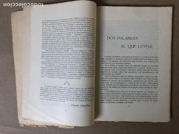 Libros antiguos: VIII CENTENARIO DE LA RECONQUISTA DE SIGUENZA POR EL PRESBÍTERO JULIÁN MORENO 1924. - Foto 3 - 208777711