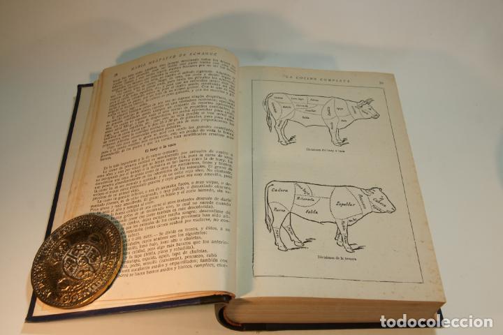 Libros antiguos: La cocina completa. Enciclopedia culinaria. María Mestayer de Echagüe. Espasa-Calpe. 1951. Madrid. - Foto 3 - 208826956