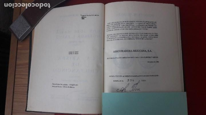 Libros antiguos: J. M. MORELOS, ELOGIO HISTÓRICO (1822) - LA ABISPA DE CHILPANCINGO (1821-1823). ED. FACSIMILAR 1984 - Foto 8 - 209016543