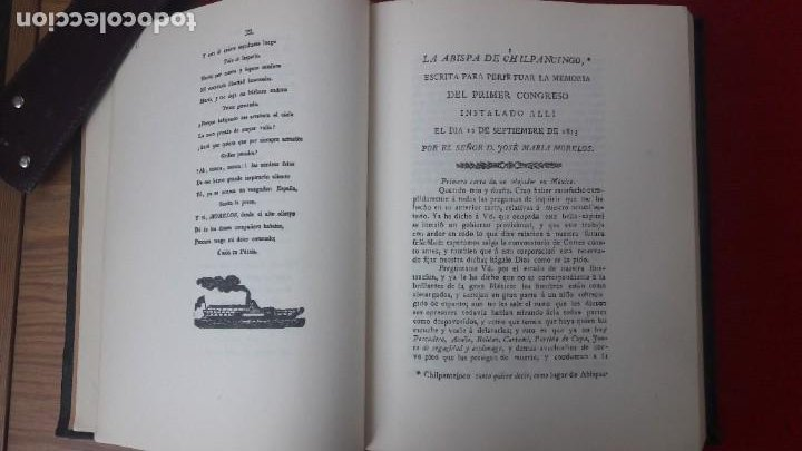 Libros antiguos: J. M. MORELOS, ELOGIO HISTÓRICO (1822) - LA ABISPA DE CHILPANCINGO (1821-1823). ED. FACSIMILAR 1984 - Foto 10 - 209016543