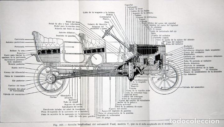 Libros antiguos: EL AUTOMÓVIL DE GASOLINA MODERNO. PAGÉ Víctor W. Buen estado. Incluye despegable. - Foto 3 - 209066730