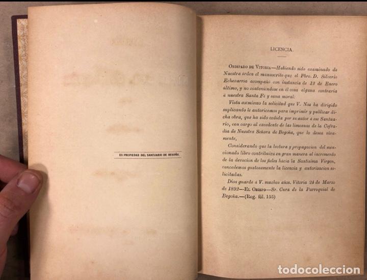 Libros antiguos: HISTORIA DEL SANTUARIO DE NTRA. SEÑORA DE BEGOÑA. SILVERIO F. DE ECHEVARRIA. 1892 - Foto 4 - 209072127