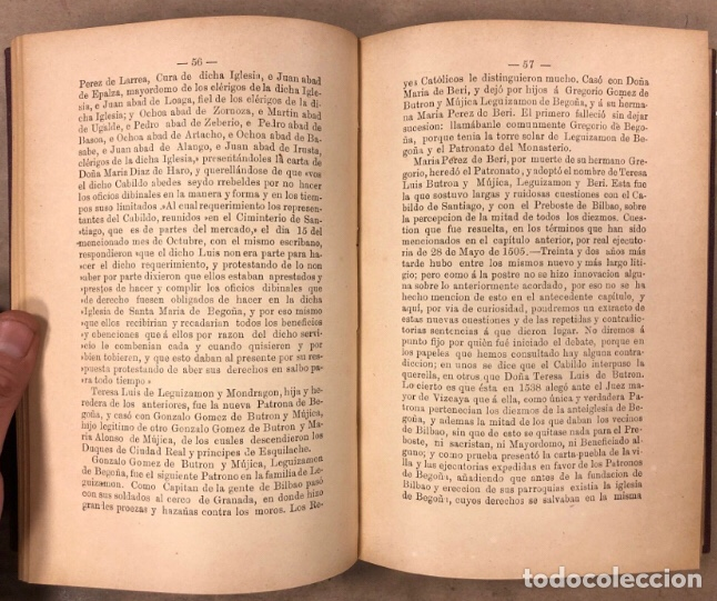 Libros antiguos: HISTORIA DEL SANTUARIO DE NTRA. SEÑORA DE BEGOÑA. SILVERIO F. DE ECHEVARRIA. 1892 - Foto 5 - 209072127
