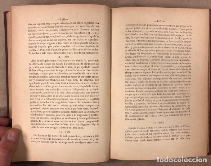 Libros antiguos: HISTORIA DEL SANTUARIO DE NTRA. SEÑORA DE BEGOÑA. SILVERIO F. DE ECHEVARRIA. 1892 - Foto 7 - 209072127