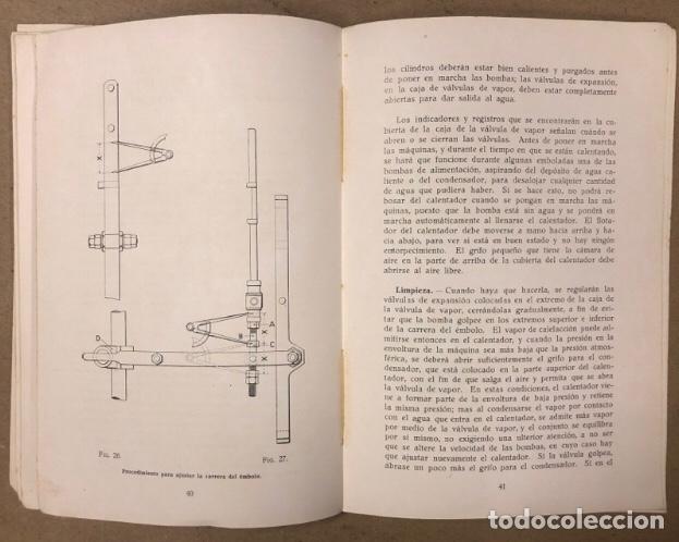 Libros antiguos: MANUAL DEL MAQUINISTA, MÁQUINAS MARINAS AUXILIARES. SISTEMA WEIR. BOMBAS DE AIRE, BOMBAS DE ALIMENTA - Foto 6 - 209170150