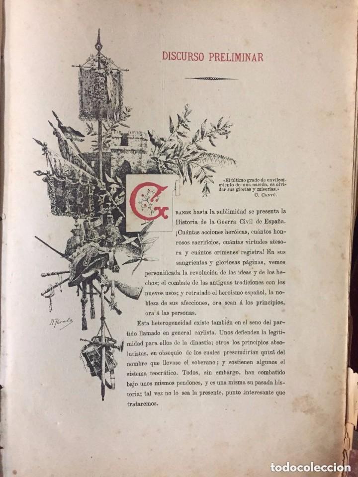 Libros antiguos: Antonio Pirala. Historia de la guerra civil y de los partidos Liberal y Carlista. 3 edicion. - Foto 5 - 209218236
