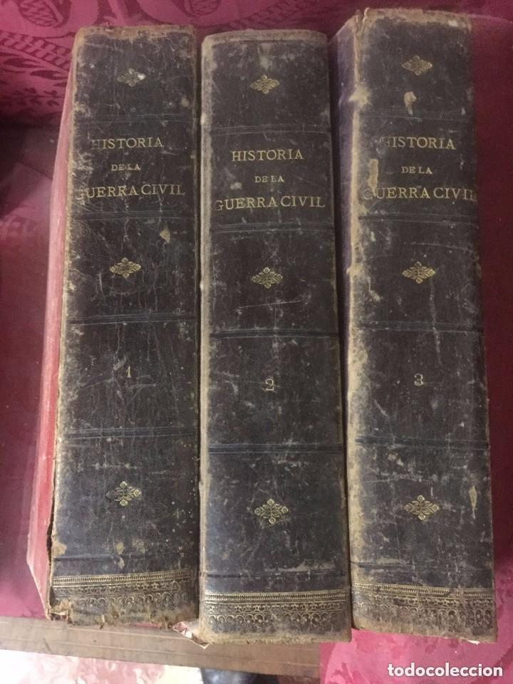 Libros antiguos: Antonio Pirala. Historia de la guerra civil y de los partidos Liberal y Carlista. 3 edicion. - Foto 6 - 209218236
