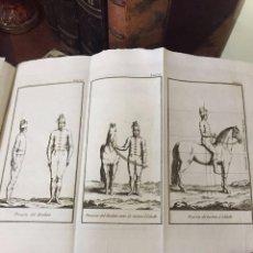 Libros antiguos: CABALLERIA. VOLUMEN CON 73 LAMINAS GRABADAS PARA LA INSTRUCCIÓN DE LOS REGIMIENTOS DE CABALLERÍA. Lote 209218405