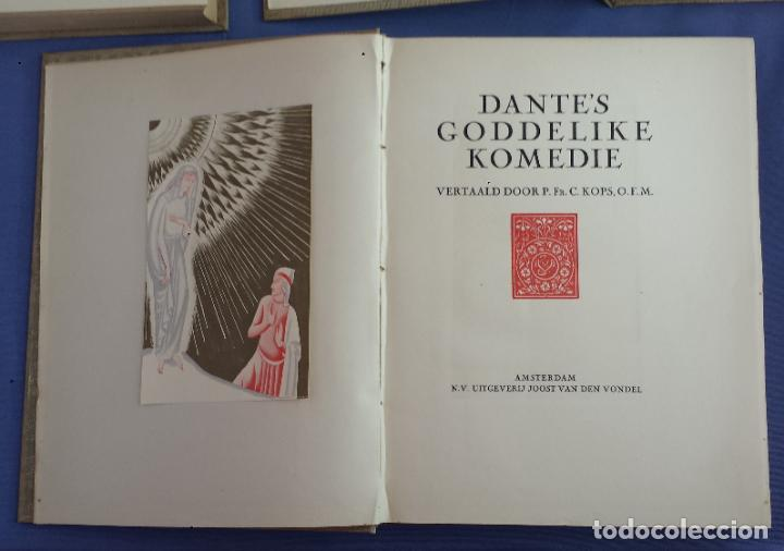 Libros antiguos: Libro holandés, Dantes Goddelijke Komedie, Edición limitada Nº 893/1025 - Foto 3 - 209234038