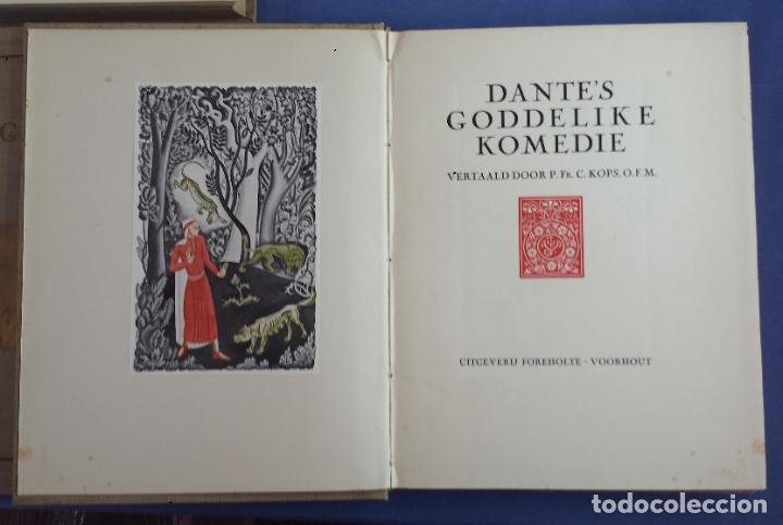 Libros antiguos: Libro holandés, Dantes Goddelijke Komedie, Edición limitada Nº 893/1025 - Foto 4 - 209234038