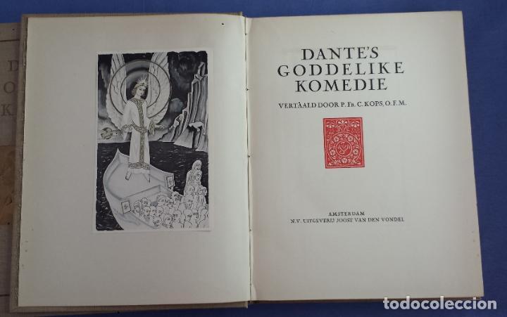 Libros antiguos: Libro holandés, Dantes Goddelijke Komedie, Edición limitada Nº 893/1025 - Foto 5 - 209234038