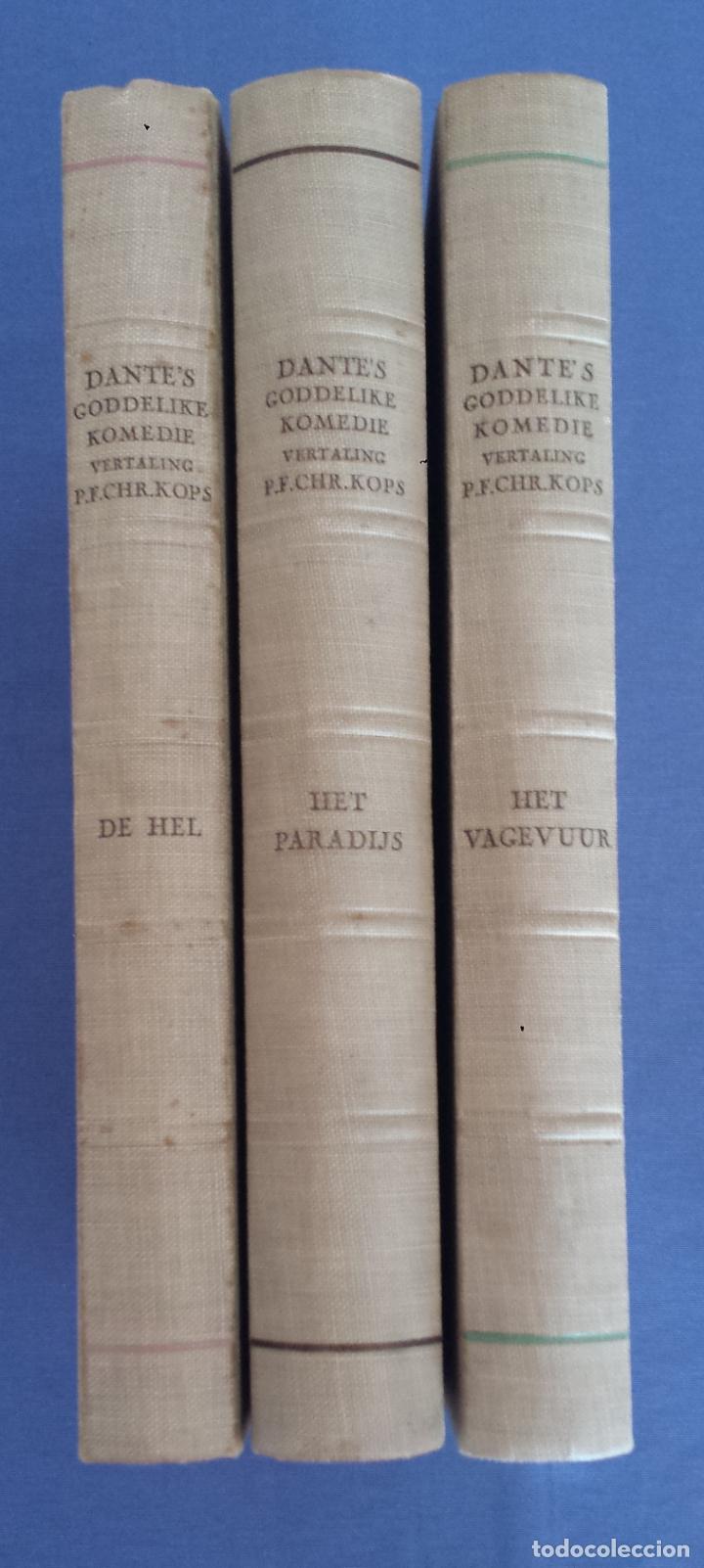 Libros antiguos: Libro holandés, Dantes Goddelijke Komedie, Edición limitada Nº 893/1025 - Foto 6 - 209234038