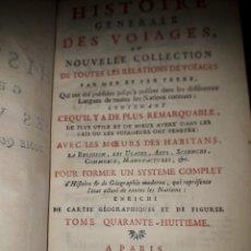 Libros antiguos: PREVOST.HISTORIA GENERAL DE LOS VIAJES.ORIGINAL 1754.NUEVA ESPAÑA. MEXICO. AMERICA. EN FRANCES.. Lote 209344502