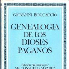 Libri antichi: GENEOLOGIA DE LOS DIOSES PAGANOS - GIOVANNI BOCCACCIO. Lote 209348673