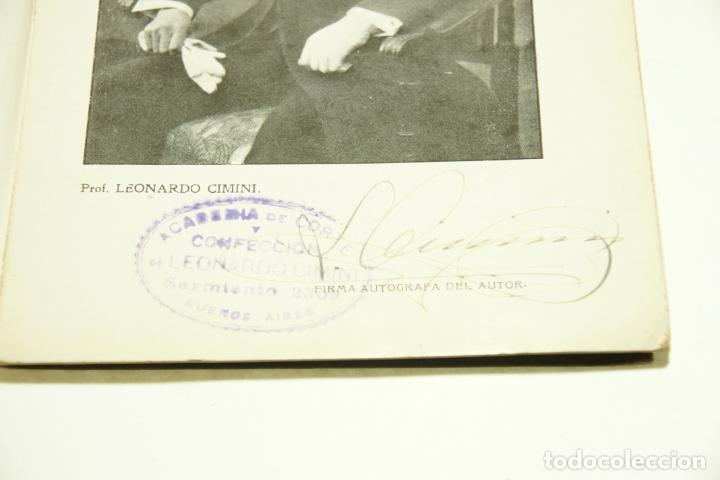 Libros antiguos: La economía del cortador sastre. Prof. Leonardo Cimini. Firmado por el autor. Buenos Aires. 1913. - Foto 4 - 209420057