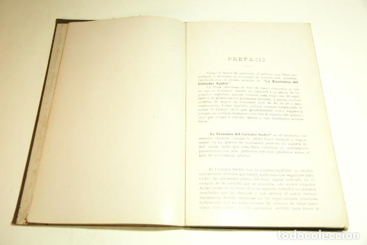 Libros antiguos: La economía del cortador sastre. Prof. Leonardo Cimini. Firmado por el autor. Buenos Aires. 1913. - Foto 6 - 209420057