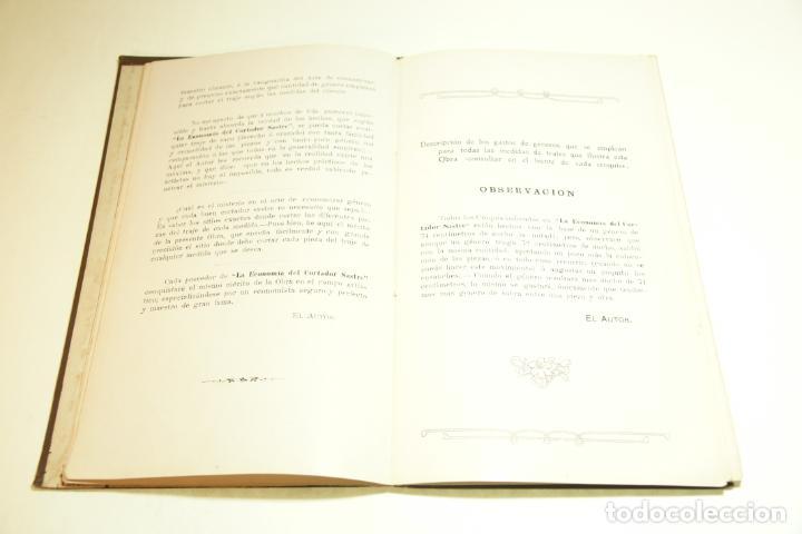 Libros antiguos: La economía del cortador sastre. Prof. Leonardo Cimini. Firmado por el autor. Buenos Aires. 1913. - Foto 7 - 209420057
