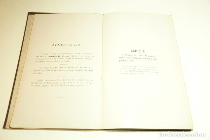 Libros antiguos: La economía del cortador sastre. Prof. Leonardo Cimini. Firmado por el autor. Buenos Aires. 1913. - Foto 8 - 209420057